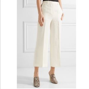 NWT Theory Pleated Linen Wide-Leg Pants